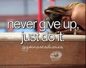 Never give op #gymnastics #qoutes