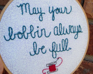 shipping sewing room hoop art sewing quote art seamstress gift sewing ...