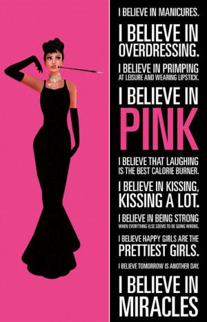 Audrey Hepburn I Believe In Pink Picture