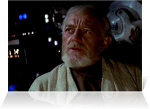Alec Guinness as Ben Obi-Wan Kenobi in Star Wars - Episode IV (1977)