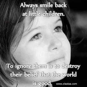 keep smiling-quotes-Children-Smile-sweet girl-thoughts