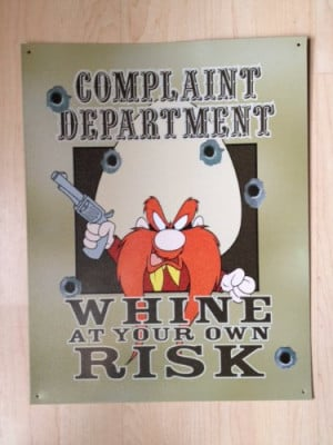 Yosemite Sam - Complaint Department, Whine at Your Own Risk - Vintage ...