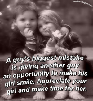 ... Giving Another Guy An Opportunity To Make His Gir Smile - Smile Quote