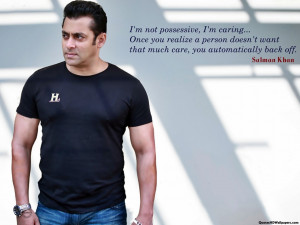 Salman Khan Caring Quotes Images, Pictures, Photos, HD Wallpapers