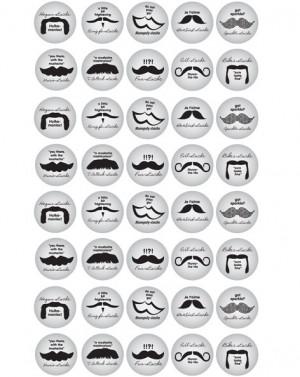 Bottle Cap Images - Mustache Quotes