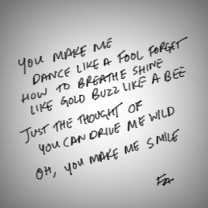... bee just the thought of you can drive me wild oh you make me smile