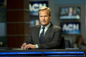 Jeff Bridges as Will McAvoy in the news drama series,
