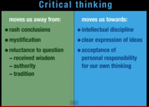 Why We Care About Critical Thinking