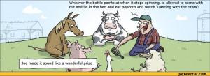 ... Stars!,comics,funny comics & strips, cartoons,WUMO,farm,bottle,animals