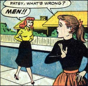 belle-de-nuit:me[Image description: A panel from a vintage comic with ...