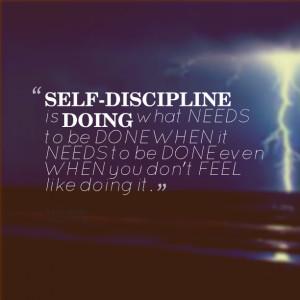 Self Discipline Quotes Quotes picture: selfdiscipline