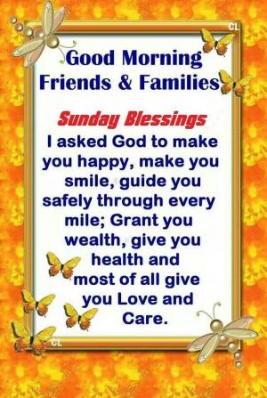 Good Sunday Morning Blessings