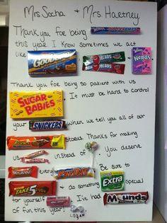Teacher Appreciation letter. SO easy and FUN to make! More