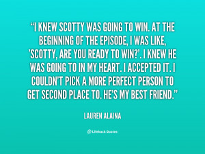 quote Lauren Alaina i knew scotty was going to win 58470 png