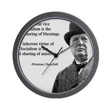 Winston Churchill Capitalism Quote Wall Clock for