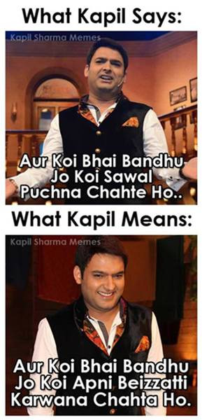 KAPIL SHARMA FUNNY PICS MEMES COLLECTIONS - Comedy Night with Kapil ...