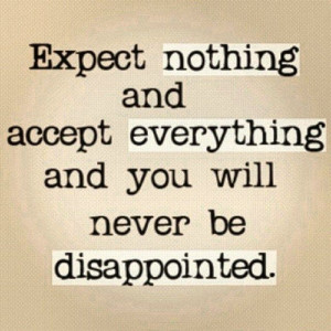 expect nothing # quotes