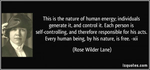 generate it, and control it. Each person is self-controlling ...