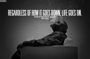 Rick Ross Picture Quotes don't feel sad over someone