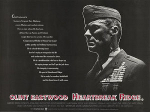 Heartbreak Ridge 1986 Clint Eastwood Marsha Mason UK QUAD poster 30x40