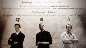 Best quotes by 3 genius Bill Gates,Steve Jobs and Linus Torvalds
