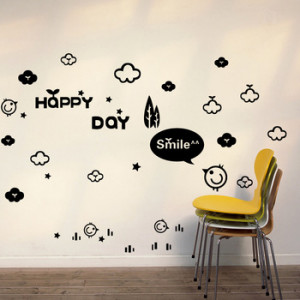 Funny quote vinyl Wall decal Happy wall sitcker For childs room Free ...