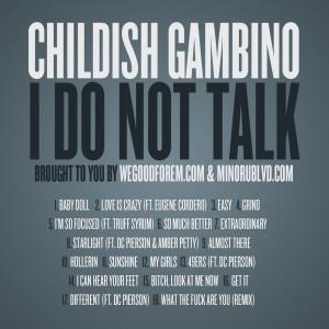 childish gambino quotes sayings being alone