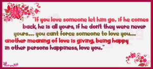 Love Quotes If you love someone let him go By Poetrysync