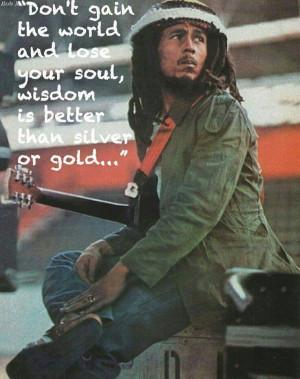 Bob Marley knew it | Bob Marley wusste es