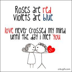 cute roses are red, violets are blue poem for valentine's day card ...