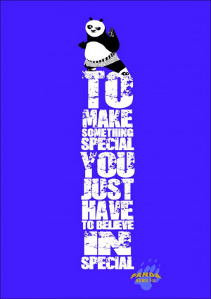 Kung Fu Panda Po motivational poster print quote A3 by MixPosters,