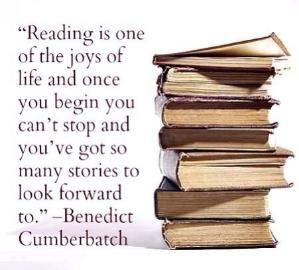 Benedict Cumberbatch quote on reading