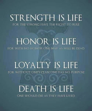 Honour Loyalty Quote