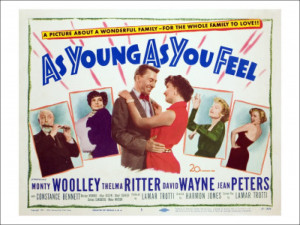 As Young as You Feel Monty Woolley Thelma Ritter David Wayne Jean ...