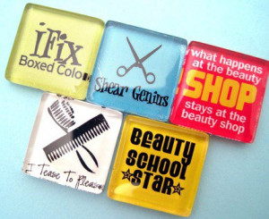 hair stylist sayings and quotes | Hair Stylist Funny Glass Magnets Set ...