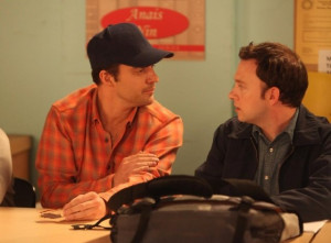 Still of Nate Corddry and Jake Johnson in New Girl (2011)