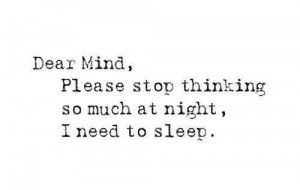 Too much on my mind