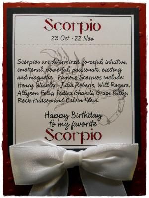 When Is A Scorpio Birthday