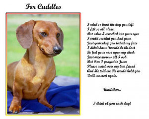Dog Memorial Poem Personalized W Name Unique Pet Loss Gift Downlo