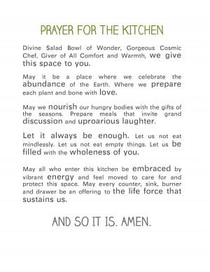 Prayer for The Kitchen