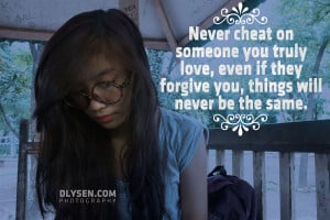 never cheat quotes