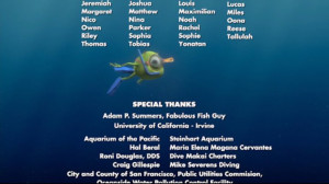 Sea Turtle Finding Nemo Quotes Finding nemo credits