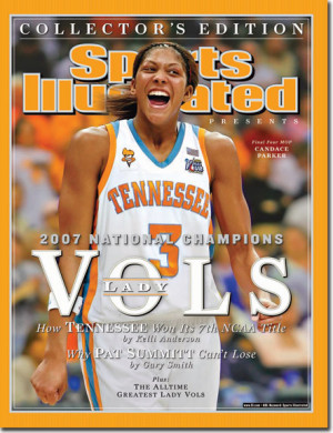 On the Cover: Candace Parker, Basketball, Tennessee Vols