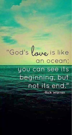God's love is like an ocean