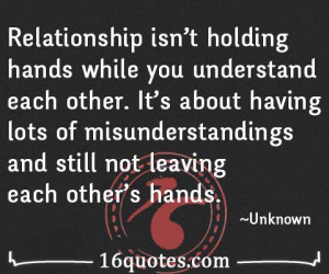 Relationship Is Not Holding Hands While You Understand Each Other ...
