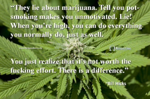 Marijuana Quote by Bill Hicks