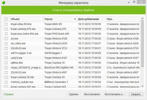 Скриншоты программы Dr.Web CureIt!