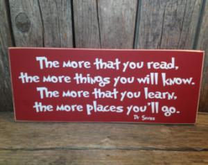 Seuss quote... teacher school gift end of the year christmas teacher ...
