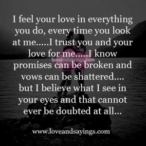 trust you and your love for me