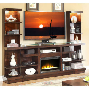 Electric Fireplace with Entertainment Center Wall Unit